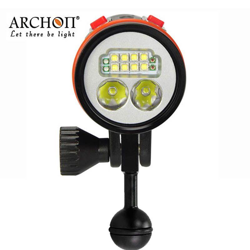 100% Original ARCHON D36VR W42VR Upgraded version D37VP W43VP UV Flashlight Diving Video Light Underwater Photography Torches