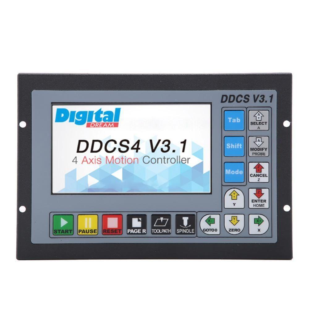 3/4 achse 500 Khz CNC Motion Controller DDCSV3.1 Offline Bedienen 1 GB Interne G code Unterstützung USB Flash Disk