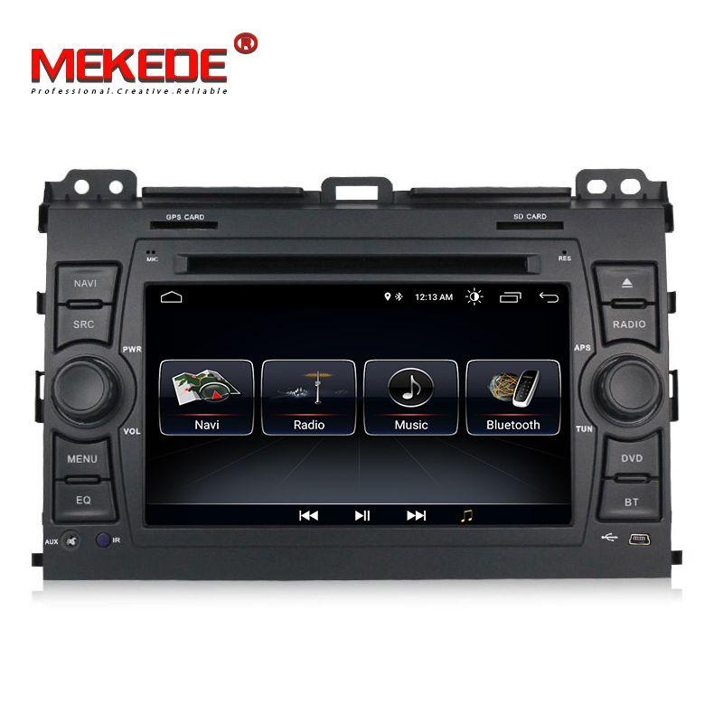 MEKEDE 1024x600 HD Auto Multimedia-player 2 din Auto DVD android 8.1 7 Zoll Für Toyota/Prado 120 2004-2009 Radio GPS BT RDS
