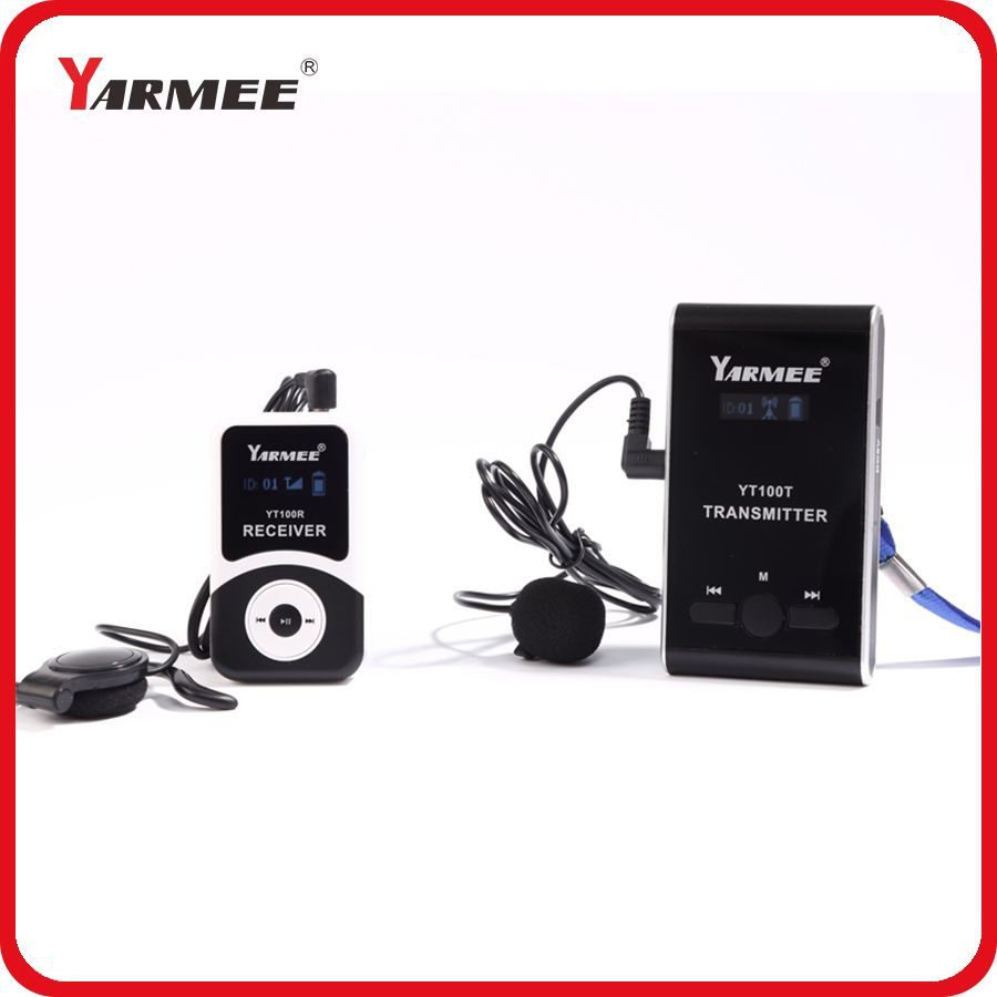 Wireless Group Tours Equipment for Museum and Factory Visiting / Audio Tour Guide System 1 transmitter + 5 receivers & charger