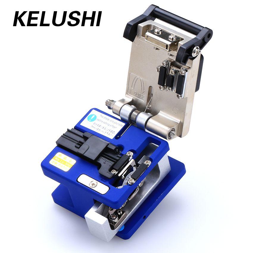 KELUSHI Optique Fiber De Toos Froid Connexion FC-6S Fiber Optique Cleaver Cutter 250um-900um 12 Position de La Lame En Métal Matériel