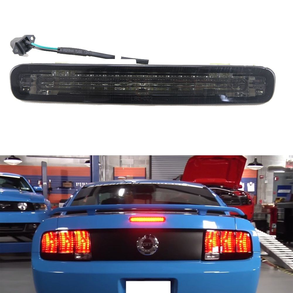 1pc Smoked Lens Super Bright 16-LED Third 3rd Brake Light OEM Replacement For 2005-2009 Ford Mustang 12V Car light sourcing