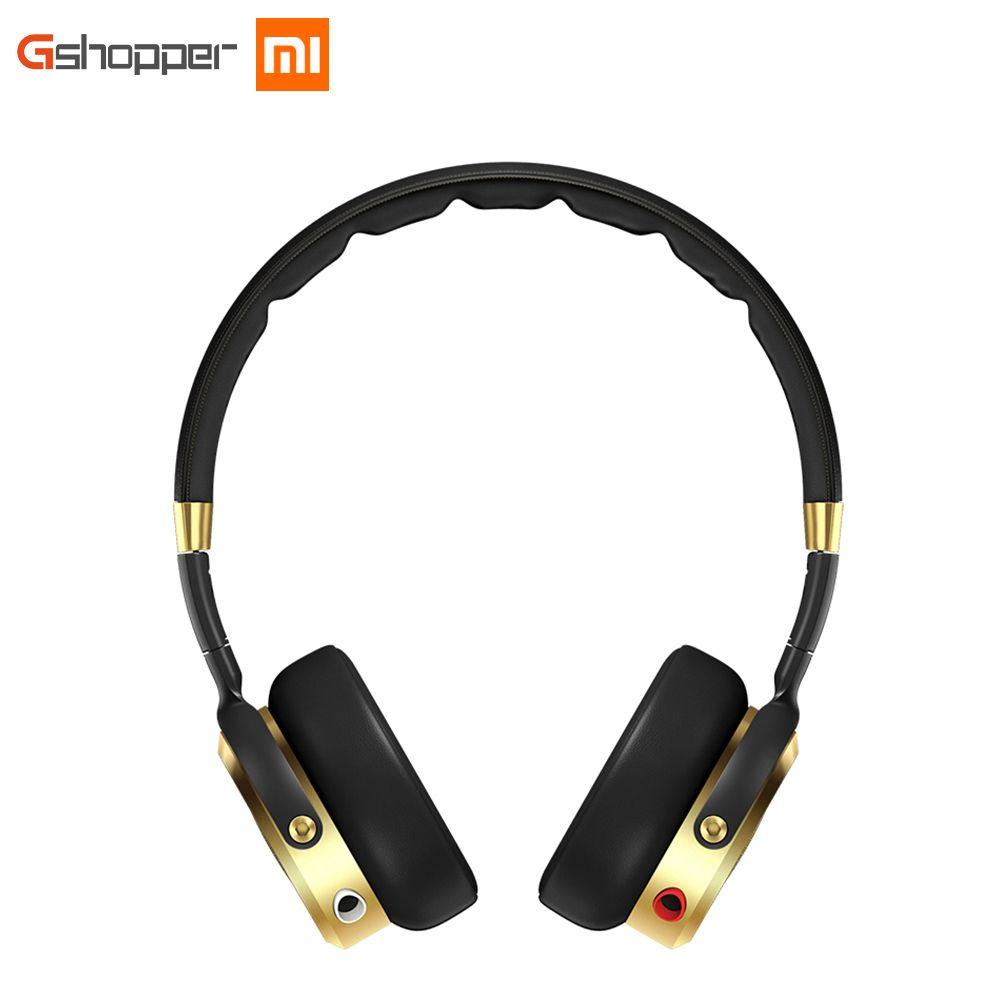 Original Xiaomi Headphone Wired Control Hifi Headband Earphones Hi-Res Audio Built-in MEMS Microphone Black+Champagne Gold