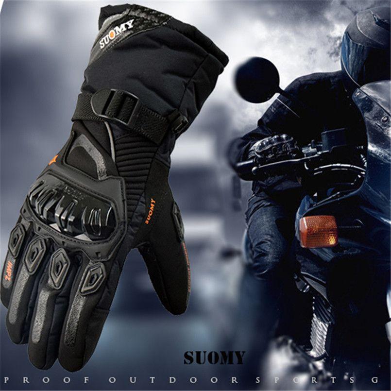 Suomy 2018 Winter <font><b>warm</b></font> motorcycle gloves 100% Waterproof windproof Guantes Moto Luvas Touch Screen luva motociclista luvas moto