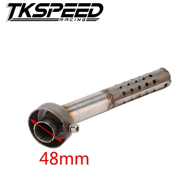 FREE SHIPPING New Metal Motorcycle Angled DB Killer Bend Muffler Exhaust Silencer Diameter 48mm Length 190mm