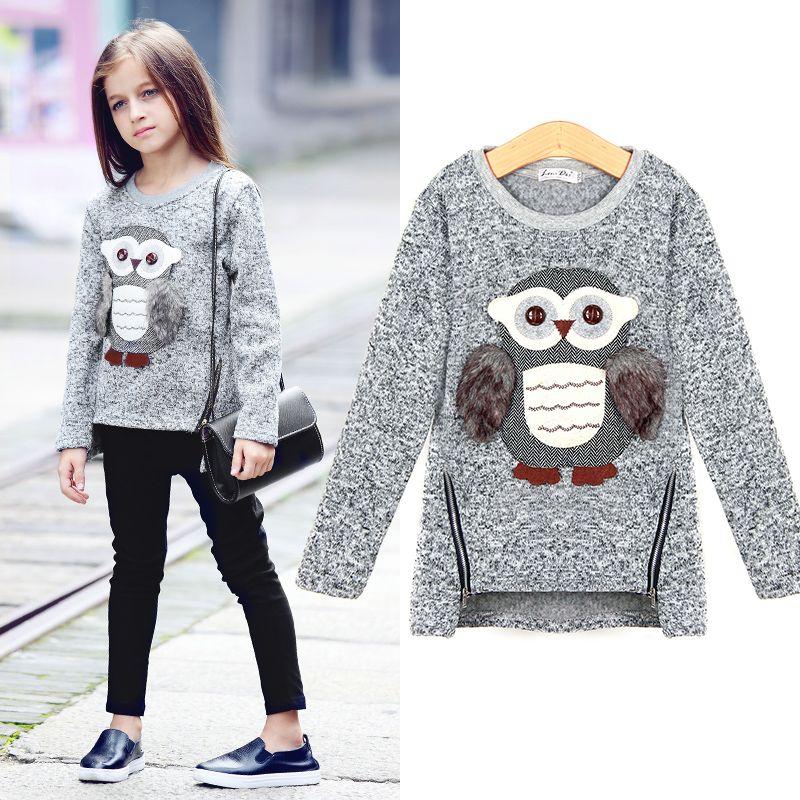 Aurorababy большой Обувь для девочек Детский свитер с рисунком Совы свитер для повседневной носки пальто Одежда для маленьких мальчиков и девоч...