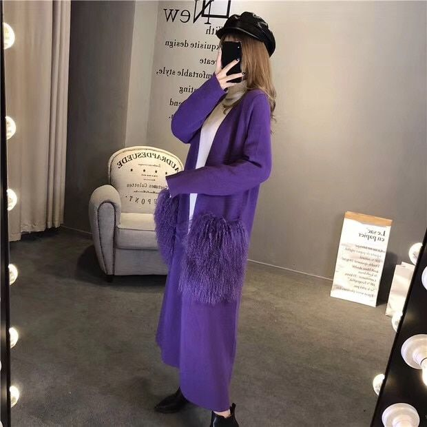 New and easy winter and medium mink sweater coat, beach wool bag free shipping S1008