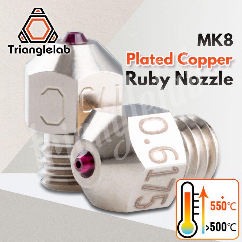 Trianglelab MK8 Überzogene Kupfer rubin düse Ultra hohe temperatur Kompatibel mit spezielle materialien PETG ABS PEI PEEK NYLON
