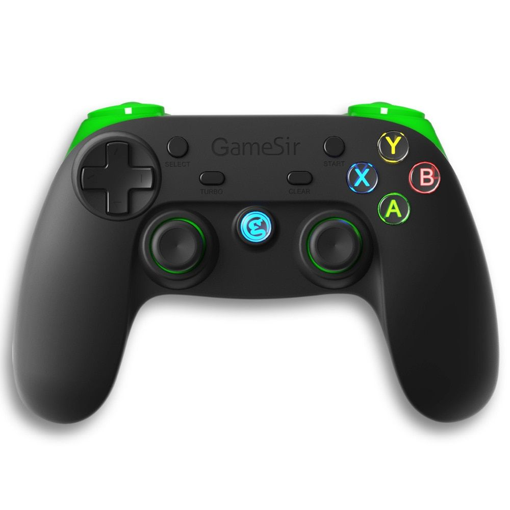 Беспроводной геймпад GameSir G3s (зеленый) с поддержкой Bluetooth и радиоканала 2.4 ГГц для сматфонов и планшетов с iOS, Android, а также Smart TV