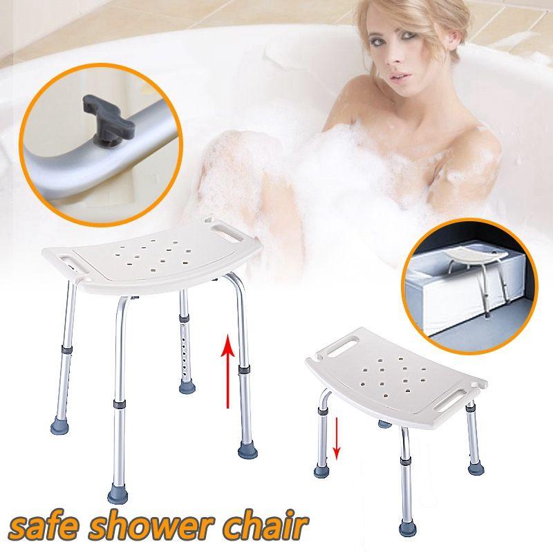 Лидер продаж Душ табурет-регулируемый Для ванной сиденья ванна для Ванная комната Детская безопасность и бритья-прочный и легкий для пожил...