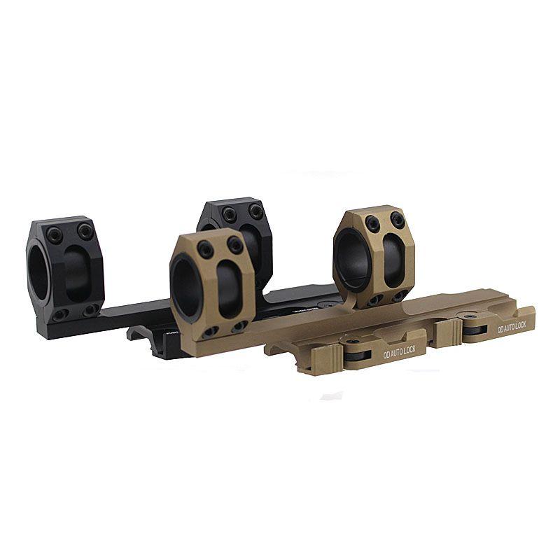 Taktische Schwere Zielfernrohr Montieren Quick Detach Cantilever Umfang Montieren Ring 25mm-30mm Dual Ring 20mm Schiene Auto Lock