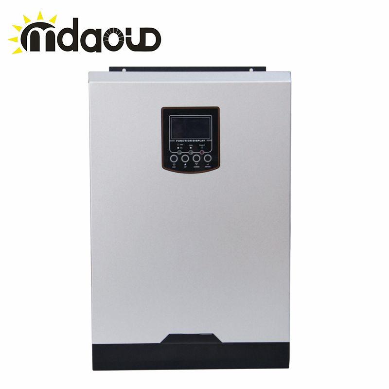 Hybrid off grid 3000W 80A DC24v TO AC230v charger solar inverter Built-in mppt