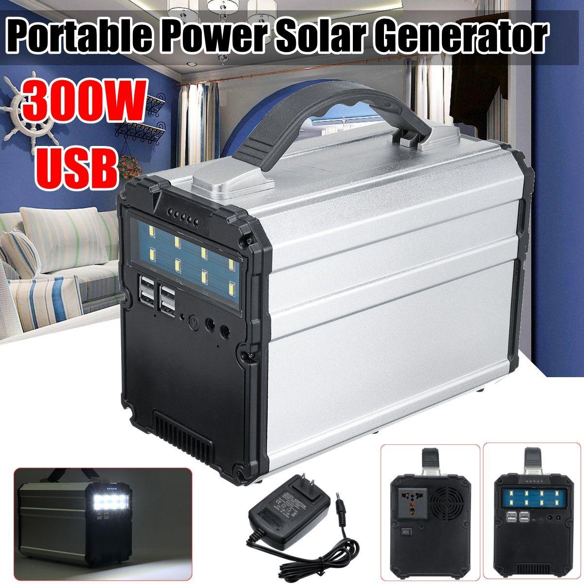 300WH 300 watt 12 v 15A Inverter Hause Im Freien Tragbare solar generator Power Lagerung schneller USB ladegerät