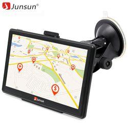 Junsun 7 pouce HD Voiture GPS Navigation écran Capacitif FM 8 GB Véhicule Camion GPS Voiture navigator Europe Sat nav Vie carte