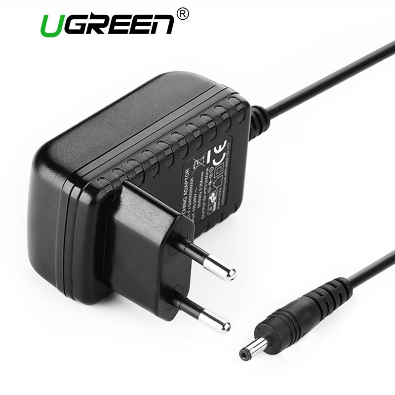 Ugreen AC DC Adapter 5V 2000mA Converter Charger Power Adapter Supply Black EU Plug 3.5*1.35mm