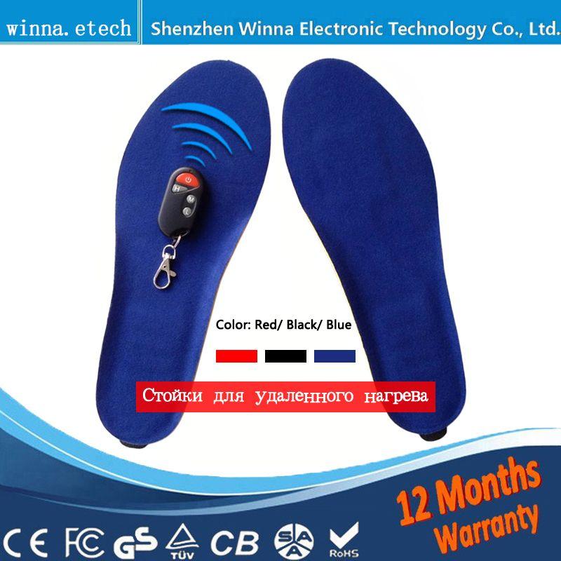 Nouveau USB chaud Chauffage Semelles hiver chaud Épais semelles pour les femmes hommes chaussures Rapide Chaud Pied semelles De sécurité de la Batterie