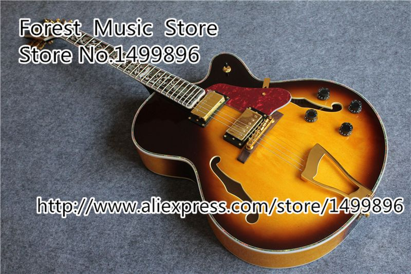 High Quality Vintage Sunburst L5 Guitars China Hollow Body Guitar With The Life Of Tree For Sale