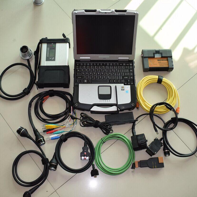 2018 super mb star c5 multiplexer mit software für bmw icom a2 mit software 2 IN1 hdd 1 tb mit laptop toughbook cf-30 4g