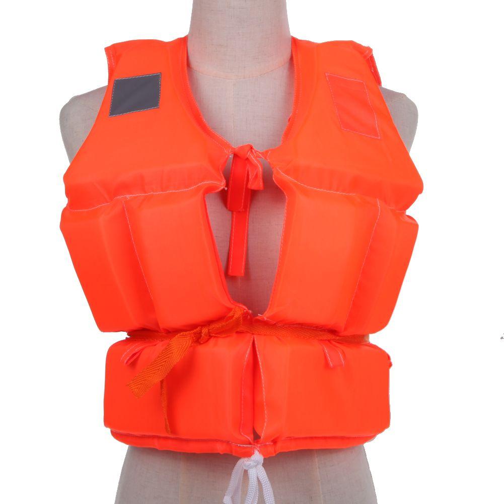 Gilet de sauvetage enfants ~ adulte prévention avec sifflet de survie Sports nautiques mousse vêtements de sauvetage pour la dérive ski nautique surf en amont