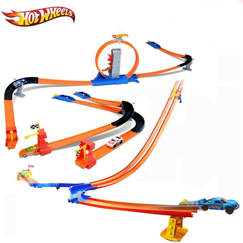 Hotwheels CARROS ecl-3-in-1 трек ассистент модели автомобилей поезд дети Пластик металлическая игрушка-автомобили-Лидер продаж Wheels Hot Игрушечные лошад...