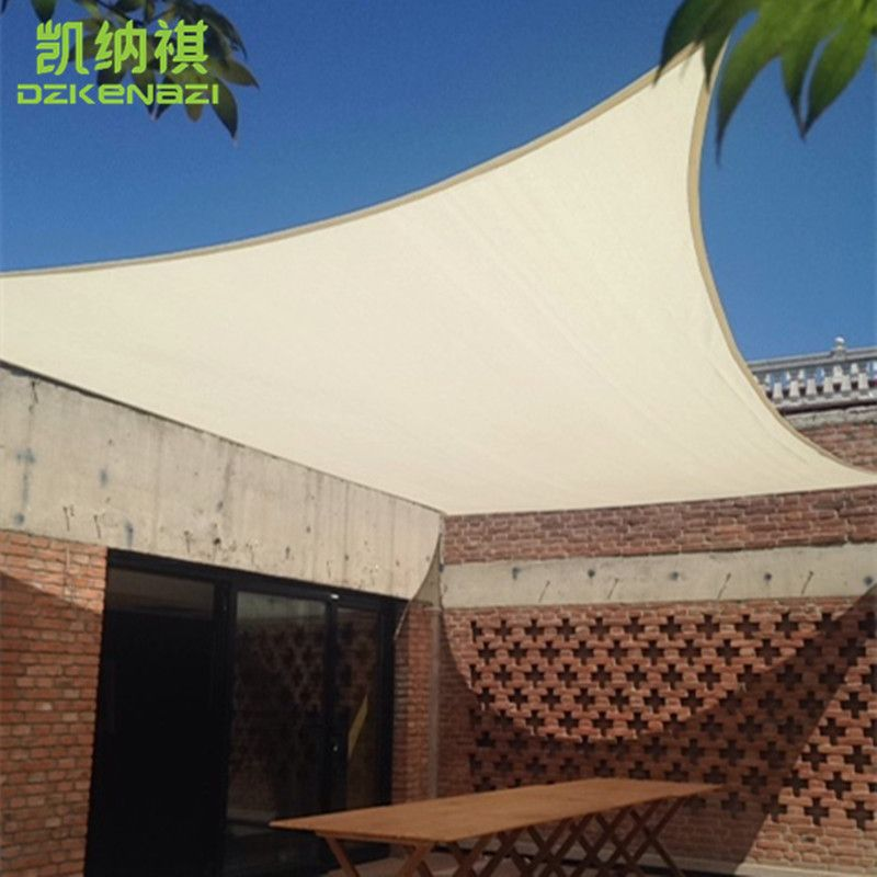 free shipping 4 x 6 M Customized Waterproof Sun Shade Sail by 180 gsm Polyester fabric with PU coated used as garden awning