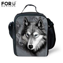 FORUDESIGNS 2017 Hot Bolsa Termica Cool Animal Wolf Tiger Lunch Bags For Kids Insulated Picnic Food Lunch Box School Food Bags