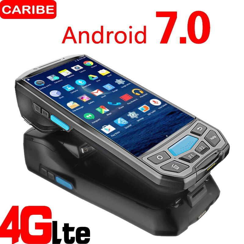 Caribe PL-50L mobile computer android pda wifi 2d bluetooth barcode-scanner und GPS drucker UHF RFID nfc POS drucker