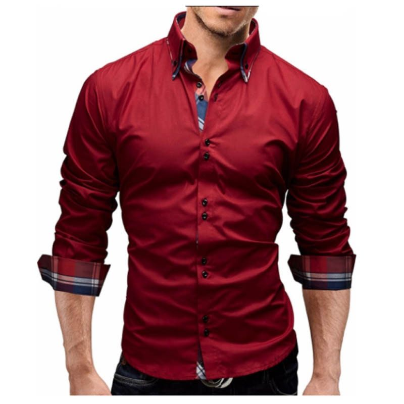 Men Shirt 2018 Spring New Brand Business Men'S Slim Fit Dress Shirt Male Long Sleeves Casual Shirt Camisa Masculina Size M-3XL