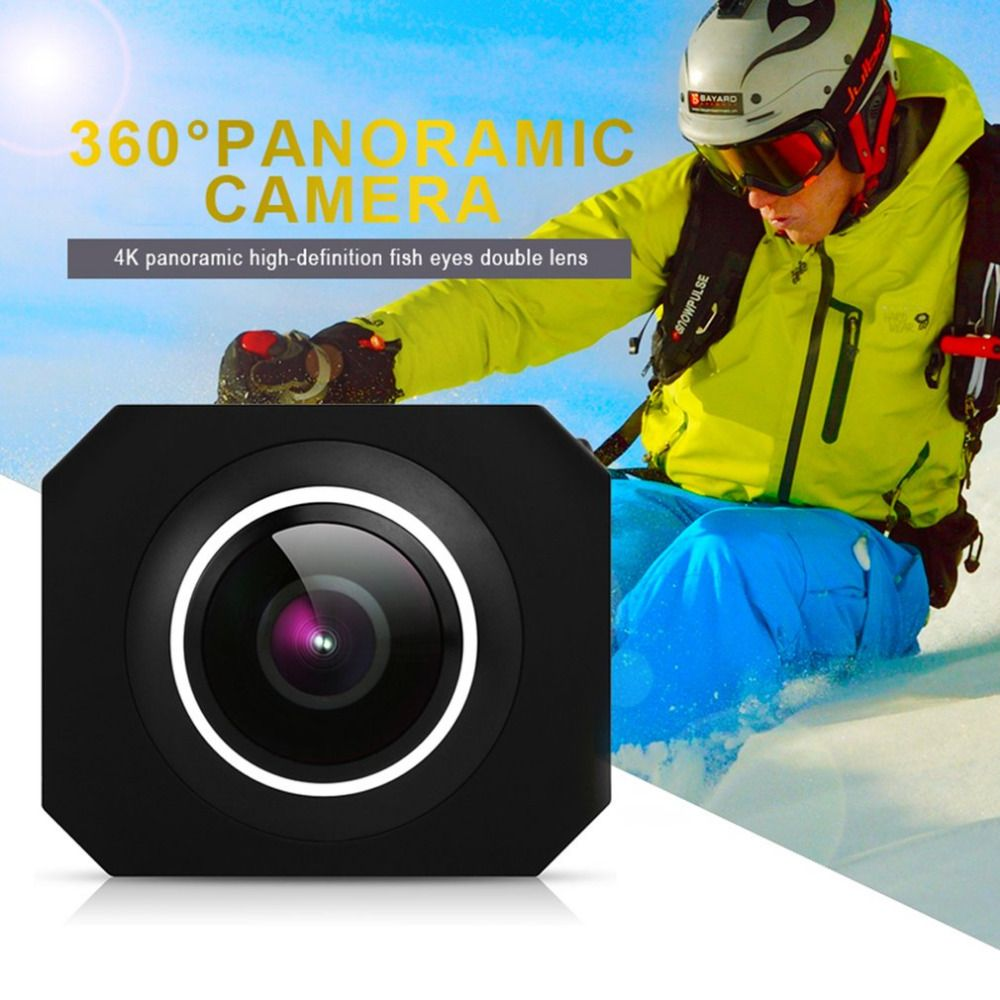 4K Panoramic HD Mini Camera WiFi VR Unique Dual Lens Take Photos Video Action Outdoor Sports Camera Support 32G Micro SD Card