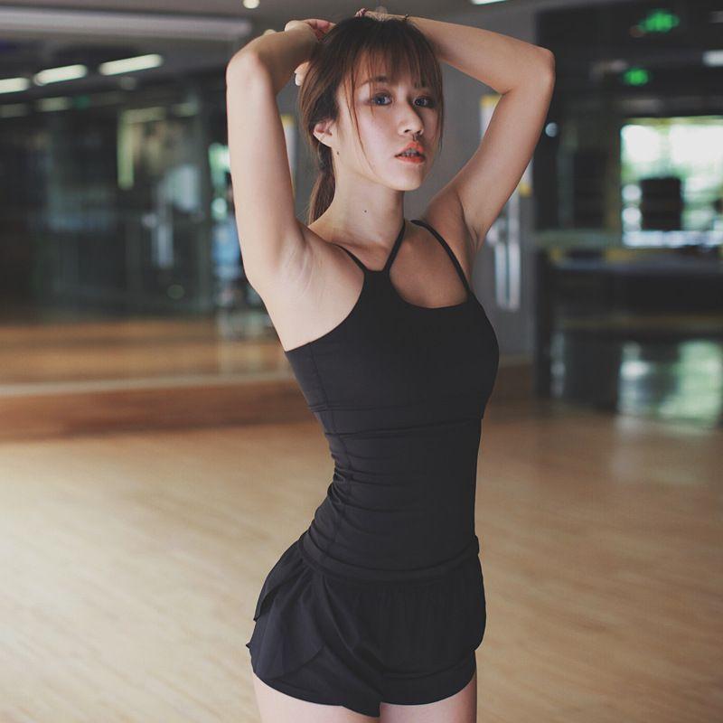 Eshtanga yoga tank Sexy Women Sport Yoga Gym Vest Clothes 4-way stretch fabric Tank Tops Fitness Running shirts with insert cup