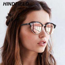 Gafas de sol polarizadas mujeres 2018 Cool gafas de sol redondas moda conducción gafas señora marca de lujo gafas Negro Azul Oculos