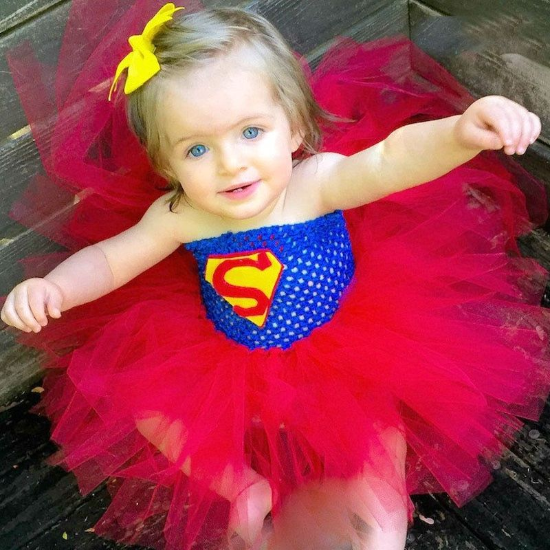 Super héros inspiré Tutu robe Halloween fête d'anniversaire Costume Batman Superman bébé fille Tutu robe accessoires Photo TS045