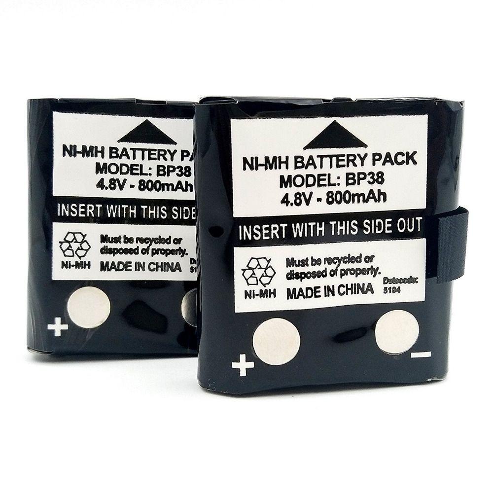 BP38 4.8V 800mAh Walkie Talkie Battery Black 2PCS