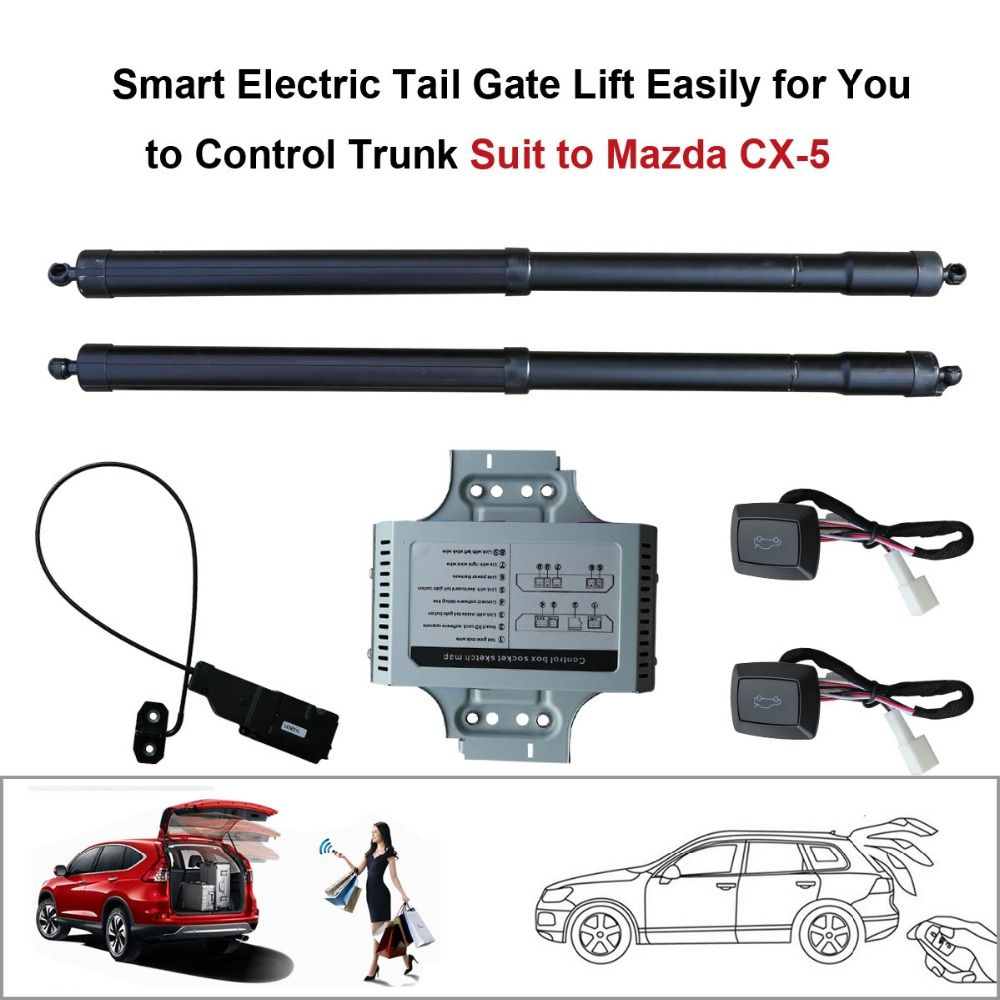 Smart Auto Electric Tail Gate Lift for Mazda CX-5 CX5 2015 2016 Control Set Height Avoid Pinch With electric suction