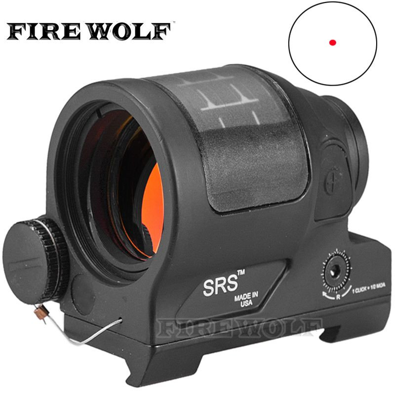 Srs Solar Power Red Dot Sight Military Weapon Sight Red Dot Sealed Reflex Sight Hunting Scopes For Airsoft Rifle Caza