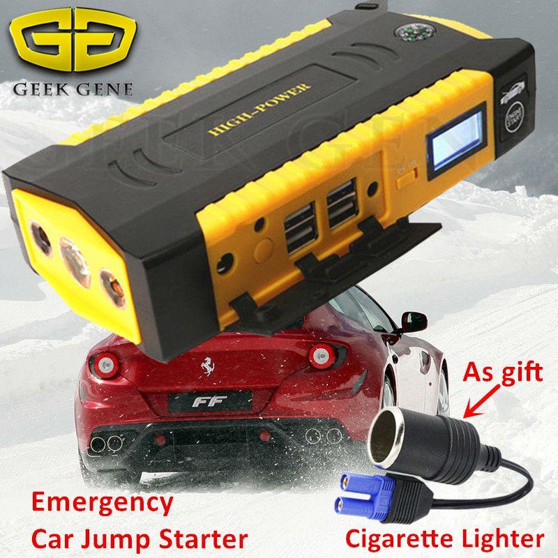 16000mAh 600A Car Jump Starter Portable Starting Device Lighter Power Bank 12V Charger For Car Battery Booster Starting Diesel