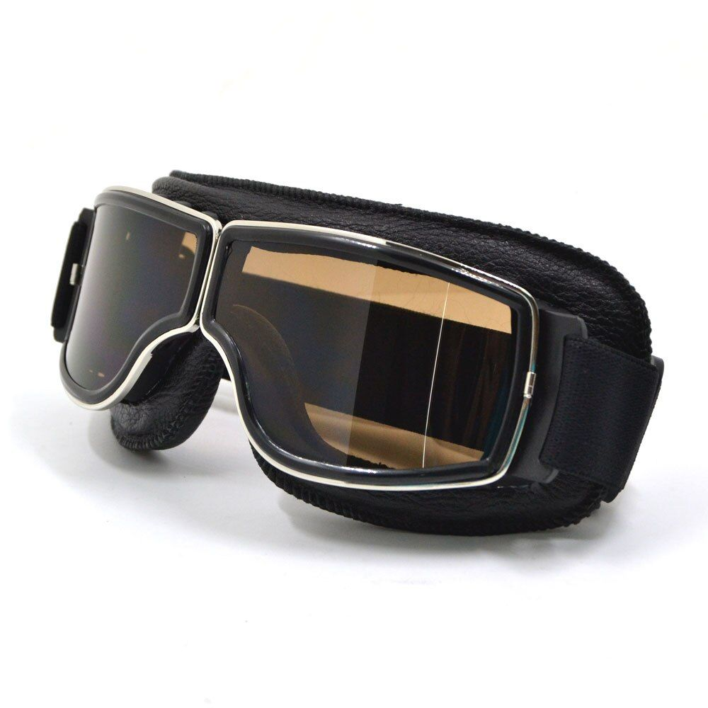 BJMOTO 2017 Vintage Universal Foldable Silver Frame Goggles Motorcycle Glasses <font><b>Helmet</b></font> Goggle Motorbike Sunglasses
