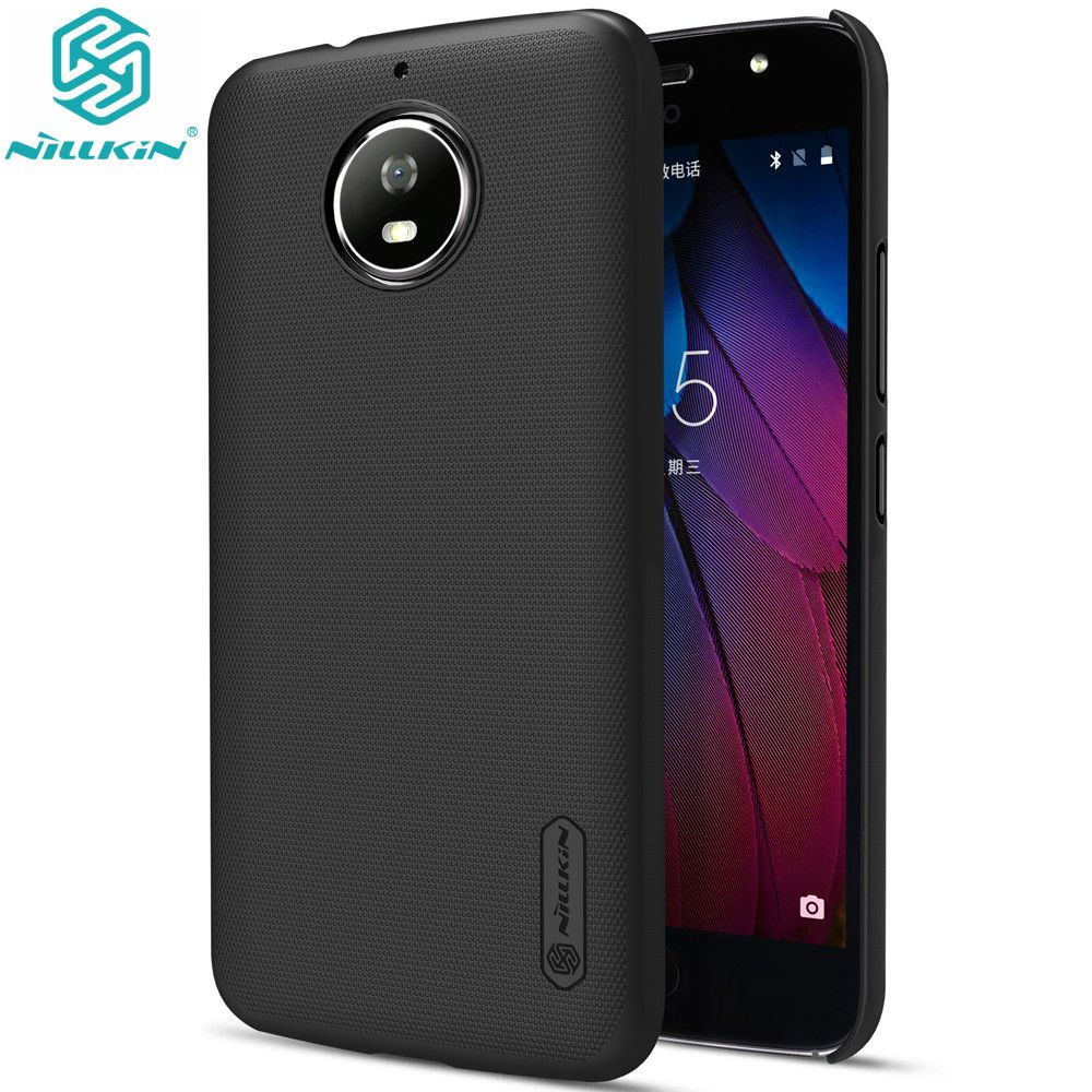 NILLKIN for Motorola Moto G5s Case 5.2 inch Super Frosted Shield Matte Case For Moto G5s Back Cases with Screen Protector
