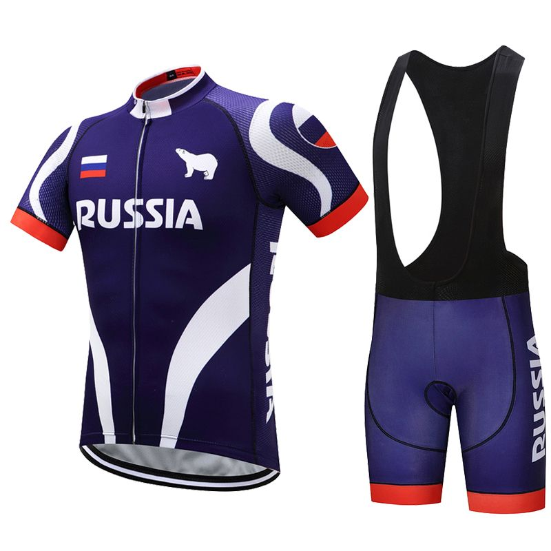 Sommer Russland Radfahren Jersey Set Männer Mountain MTB Trikots Bib Shorts Fahrrad Kleidung Fahrrad Uniform Radfahren Kleidung Kit Skinsuit