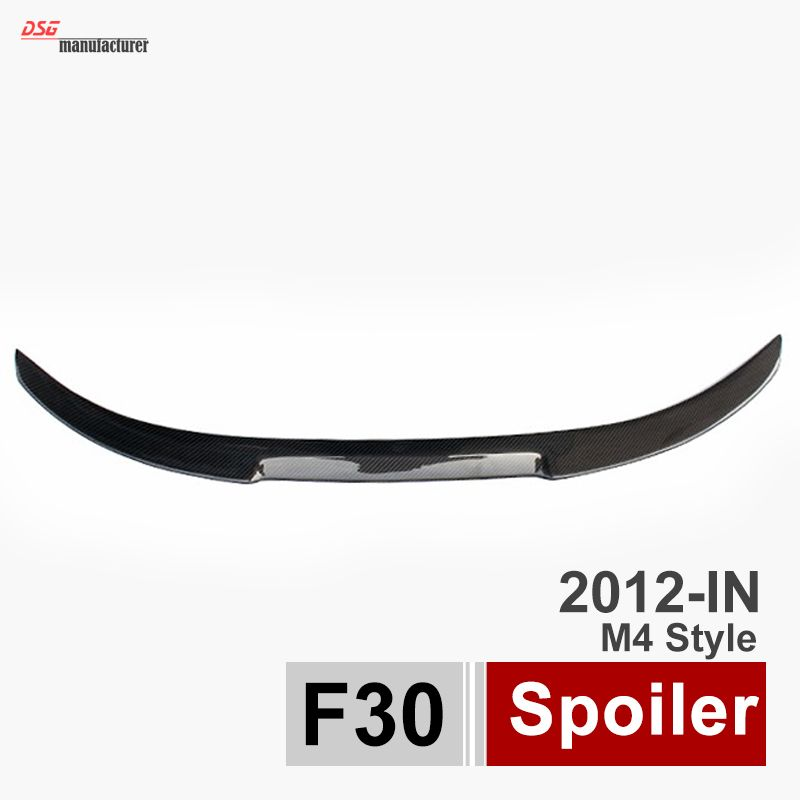 m4 style carbon fiber rear trunk spoiler car wing for bmw 3 series 316i 316d 318d 320i 320d 325d 328i 330d 335i 335d f30 f80 M3
