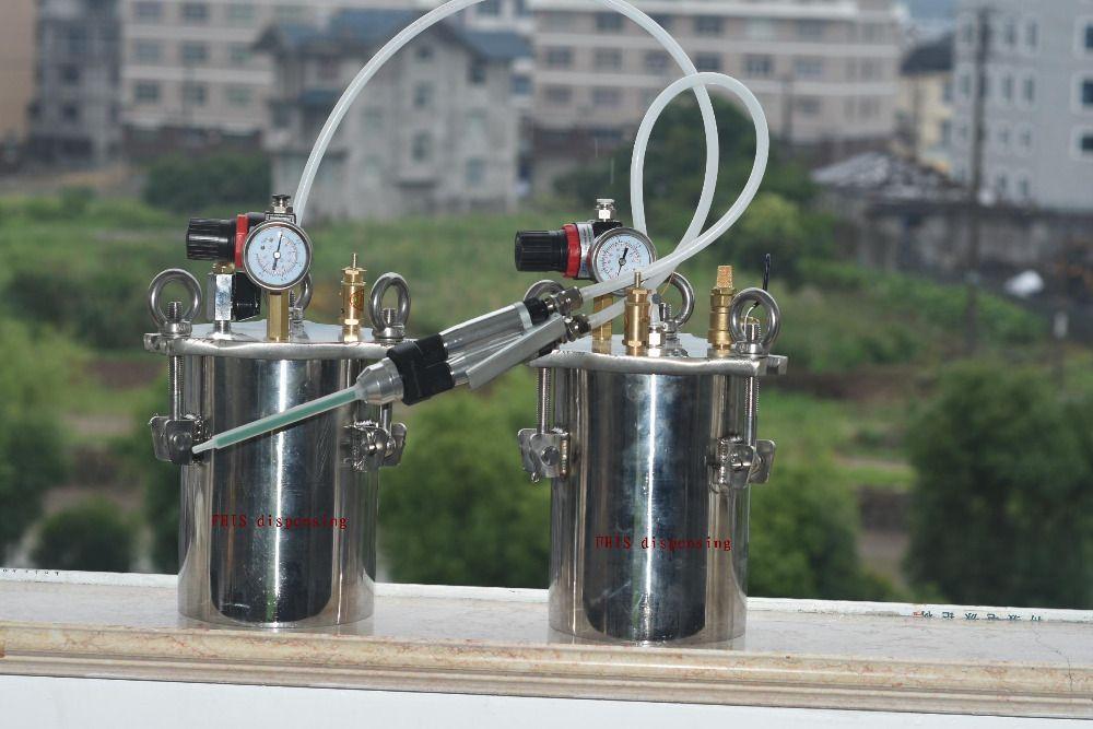 FHIS manual dual liquid glue gun with pressure barrel