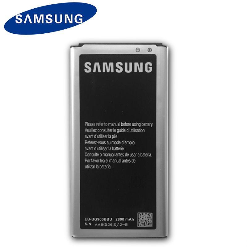 Originale Batterie Samsung EB-BG900BBU EB-BG900BBC 2800 mAh Pour Samsung S5 G900S G900F G900M G9008V 9006 V 9008 W 9006 W G900FD NFC
