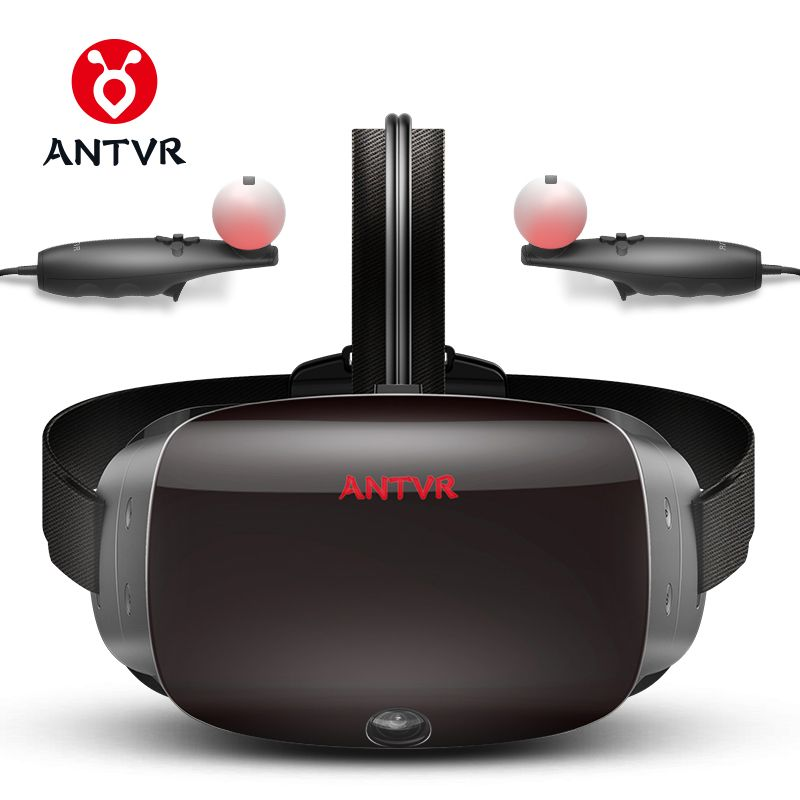 ANTVR 2018 New Virtual Reality Glasses VR PC Headset Steam Game for PC Virtual pc Glasses Binocular 110 FOV 2K VR box 3D VR 2T