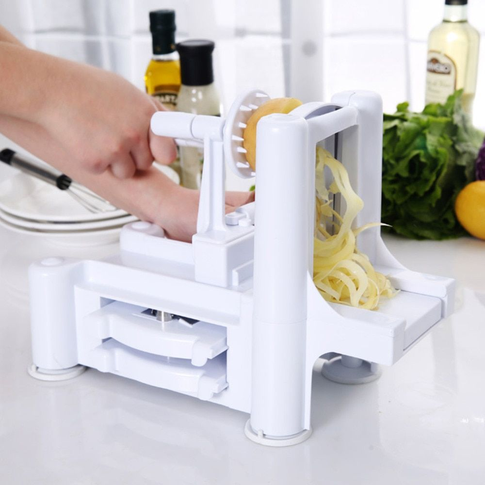 New Household Essential Tri-Blade Slicer Vegetable Spiral Cutter Mandoline Chopper Cooking <font><b>Tools</b></font> Kitchen Spiralizer Knife