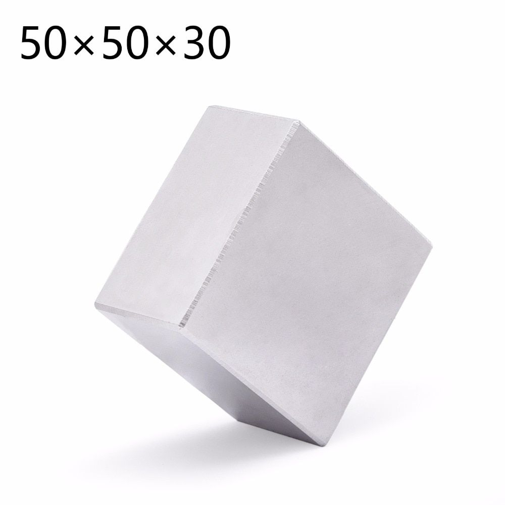 1pc N52 Block Permanent 50mm x 50mm x 30mm Super Strong Rare Earth magnets Neodymium Magnet