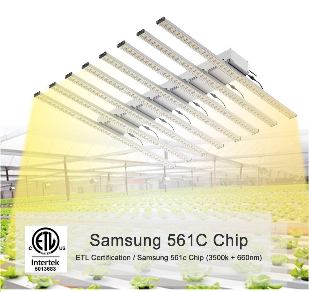 640W Volle geführte spektrum wachsen licht bar, Samsung 3000K 660nm Rot pflanzen, hydrokultur-system Gewächshaus wachsen Lampe