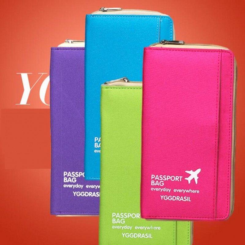 Chaude Multifonctionnel Voyage Documents Contenant Portable Portefeuille Passeport De Stockage Sacs Paquet Ensemble Passeport Titulaire Organiser Sac