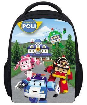 Mini Cartoon Robocar Poli Bag Children 3D Printed School Bags Kids Kindergarten Backpack Boys Mochila Infantil Schoolbag
