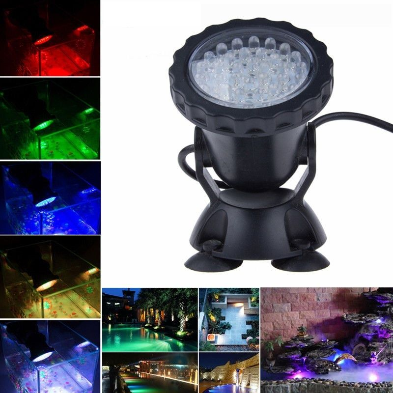 Waterproof IP68 RGB 36 LED Underwater Spot Light For Swimming <font><b>Pool</b></font> Fountains Pond Water Garden Aquarium Fish Tank Spotlight Lamp