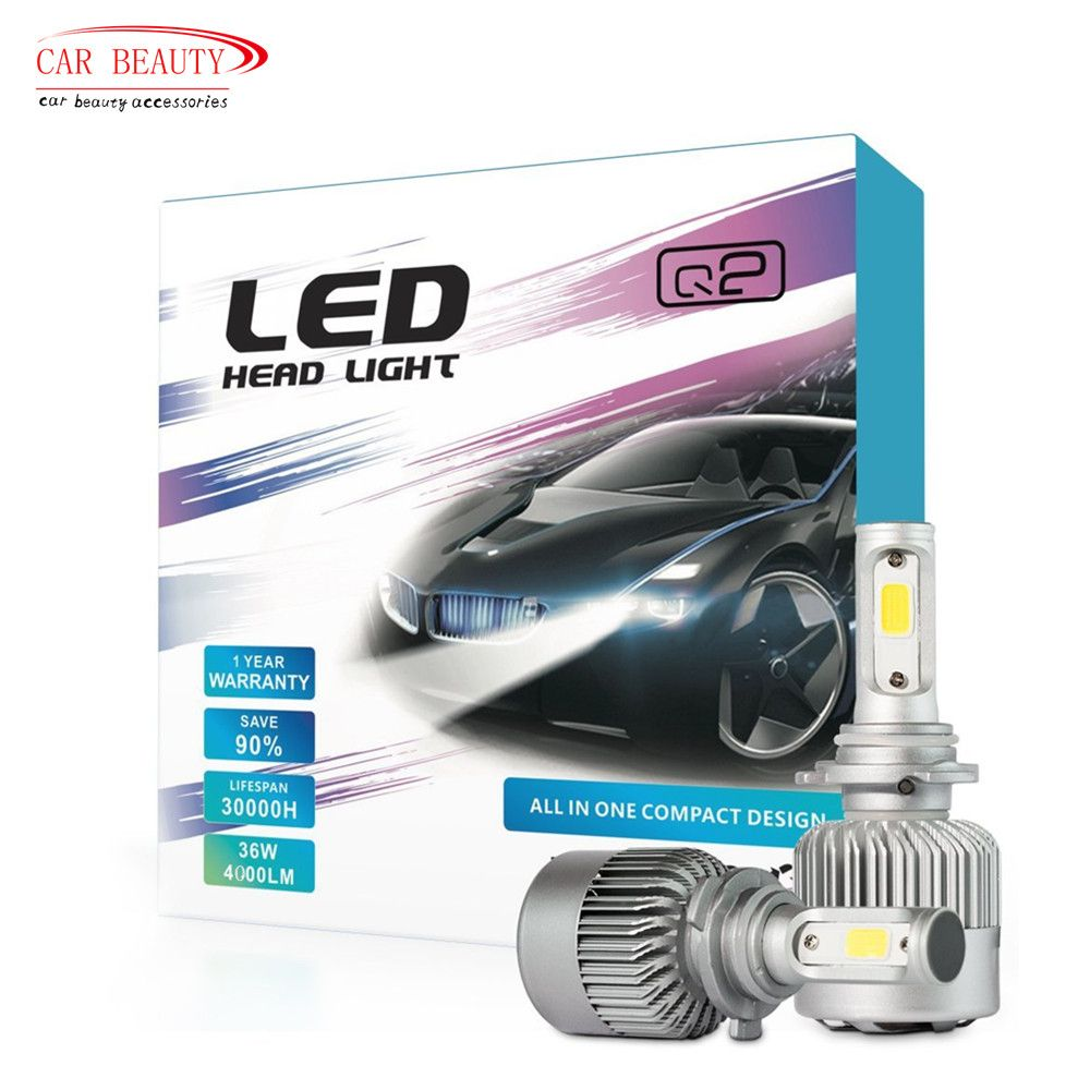2017 NEW H4 H7 H11 H1 H3 9005 9006 Car LED Headlight Bulb 8000LM 6000k 72W Automobiles LED Headlamp ALL-IN-ONE Car Styling
